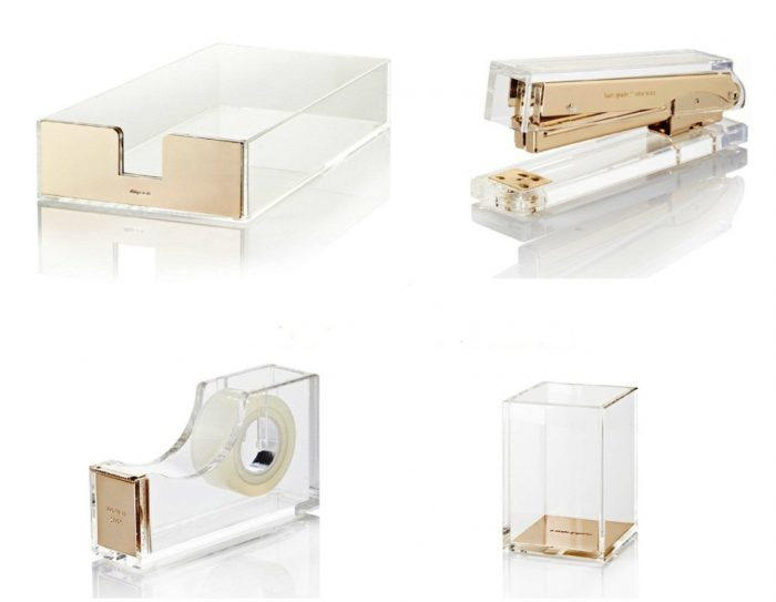 15 Beautiful Office Supplies to Bling Out Your Boringly Dull Workspace (especially for Uber Fans of Kate Spade!)   I'm such a sucker for beautiful things and, when it comes to the home office, I'm a LOLLIPOP for the office supply eye candy. There is nothing that makes me happier when I sit down to talk to you than having my gold stapler and tape dispenser just smiling back at me while I work. I have a long list of things that I want to jump on and adopt. This list of 15 is just the beginning.