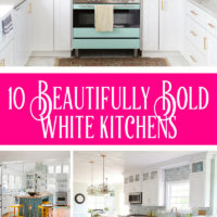 10 Beautifully Bold White Kitchens