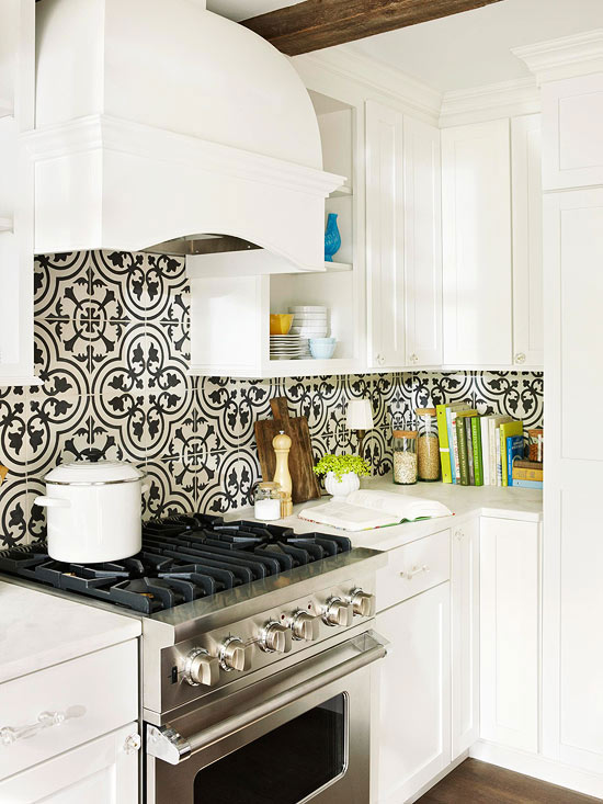 10 Beautifully Bold White Kitchens