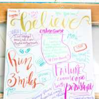 How to Make Your Own Hand-lettered Vision Board Canvas
