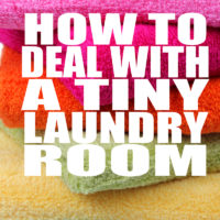 How to Deal with a TINY Laundry Room