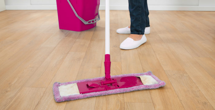 The Quick and Easy Way to Clean Wood Floors in the Kitchen: The Self Cleaning Home Part 5!