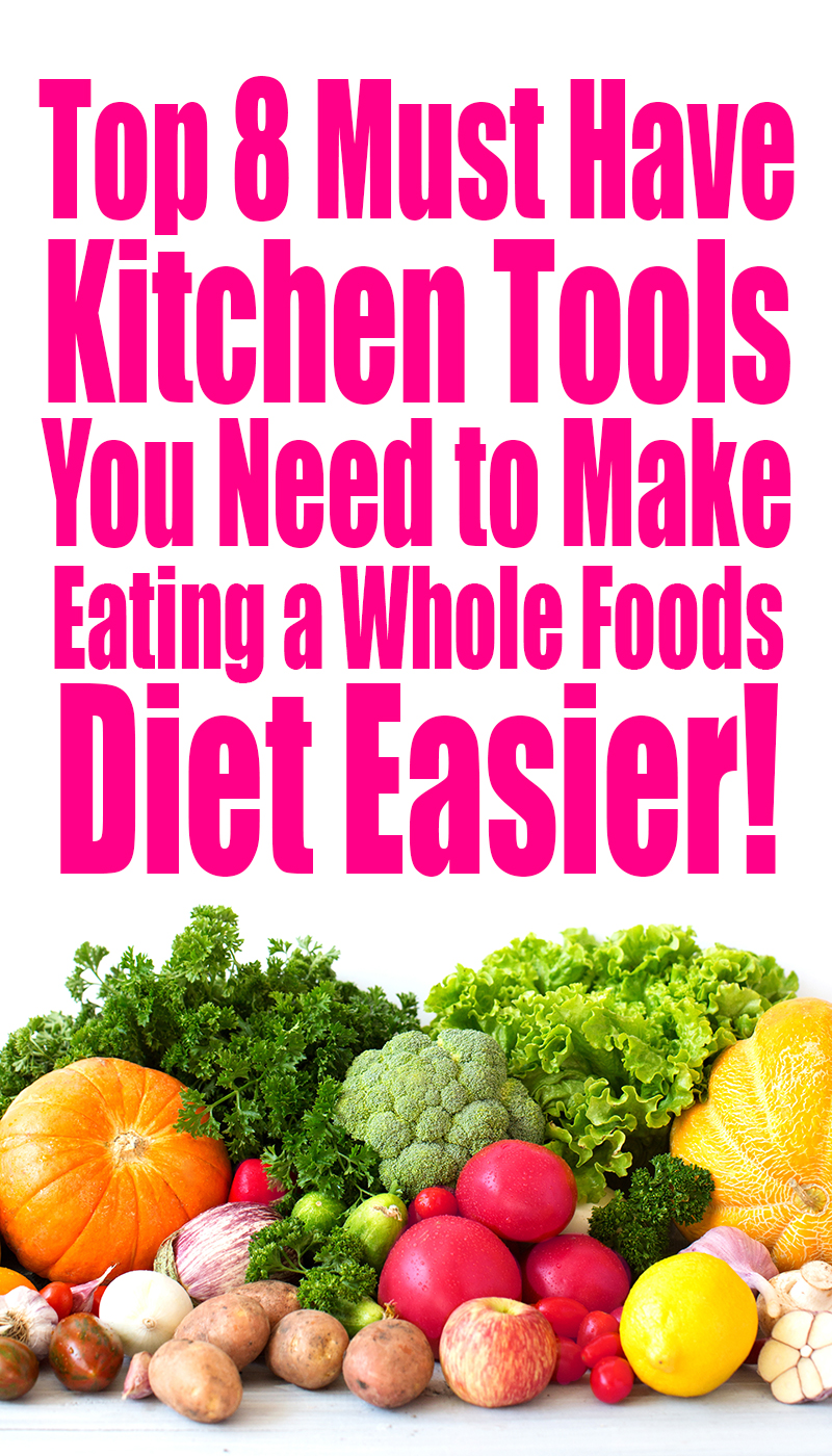 The top 8 MUST HAVE kitchen tools you need to make eating a whole foods diet easier! These are the tools I use every day or allllmost every day. I seriously couldn't live without them. They are the life-blood to my culinary efforts!