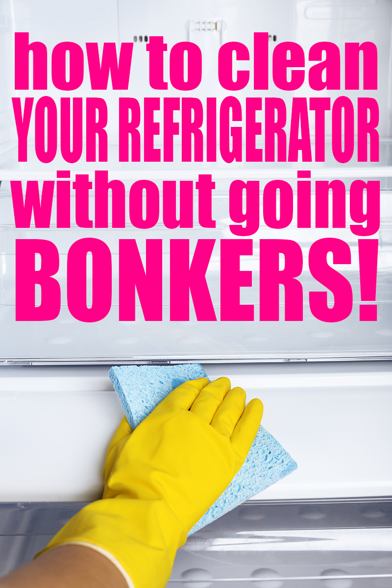 How to clean the refrigerator without going bonkers! Ridiculously simple tips to make cleaning out your refrigerator on a weekly basis quick and easy! | Cleaning | Cleaning Tips | Natural Cleaning | Refrigerator | Cleaning Refrigerator | Cleaning Kitchen | Kitchen Cleaning tips and tricks