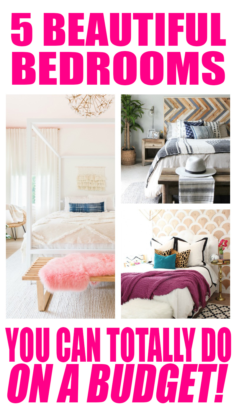 5 Beautfiul Bedrooms on a budget! Your bedroom should be the most relaxing, tidy and refreshing room in your home. Here are some ideas for a thrifty budget! | Budget Decorating | DIY | Home Decor | Decorating on a Budget | Creative Decorating | Cheap Decor | Cheap Decorating | decorating ideas for the home | decorating ideas for the home | decorating ideas for the home diy
