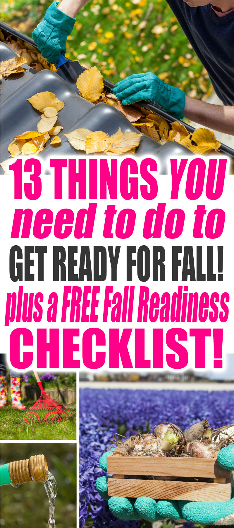 13 Things You Need to Do to Get Ready for Fall. Grab your FREE Fall Readiness Checklist Printable Now! | Fall | Organization | Preparation | Fall Ideas | Fall Organization Ideas | Fall Cleaning | Fall Cleaning Ideas | Fall Organization Tips | Fall Organization Ideas