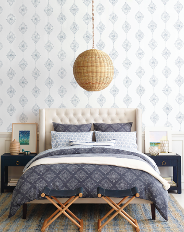 Beautiful Bedroom With A Basket Chandelier From Alice And Lois