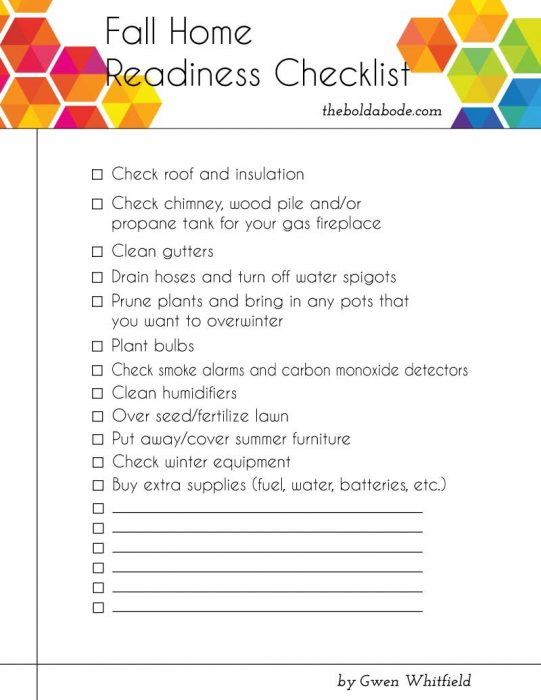 Free Fall Readiness Checklist!
