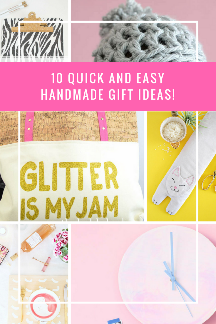 Need some handmade gift idea inspiration? Check out these 10 Quick and Easy Handmade Gift Ideas for the holidays. #giftideas #handmadegifts #handmadegiftideas #diygifts #diy