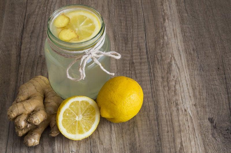 Lemon Ginger Water Detox Tonic