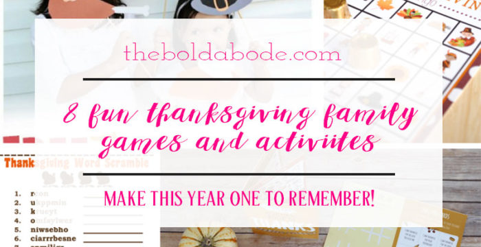 8 Fun Thanksgiving Family Games and Activities