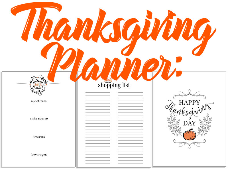 photograph relating to Printable Thanksgiving Menu named Thanksgiving Planner: Menu, Buying Checklist and Attractive