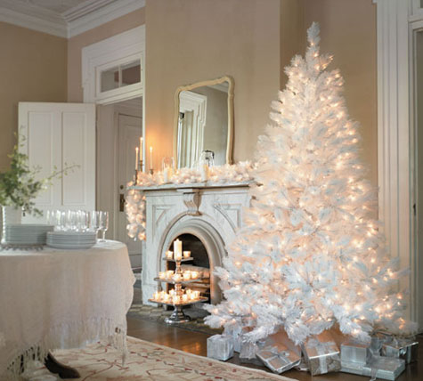 Decorating White Christmas Trees