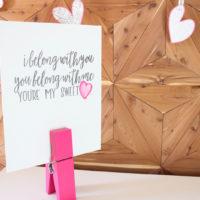 DIY Sweetheart Canvas Board Art