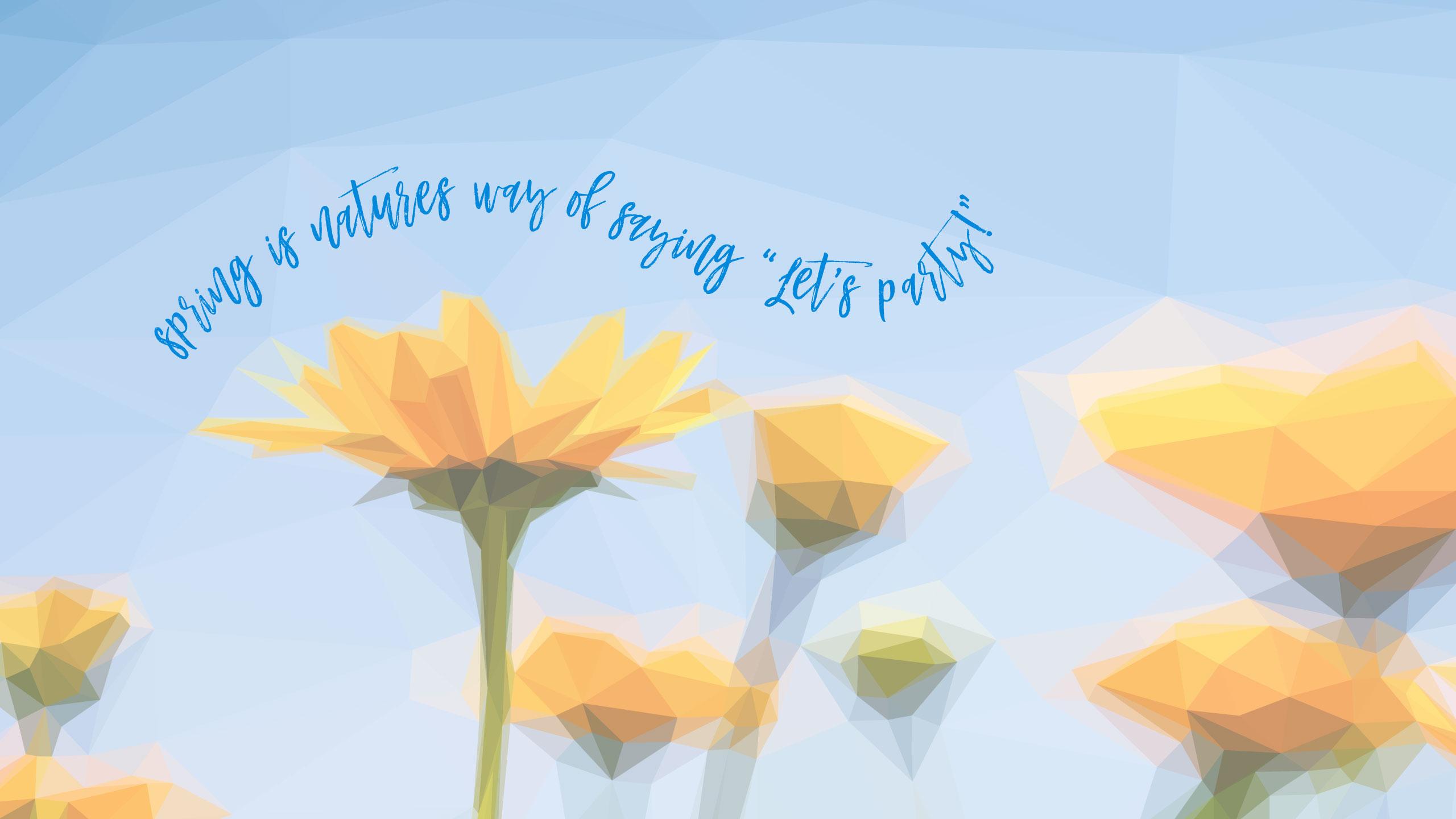 Geometric Daffodil Digital Wallpapers - Desktop