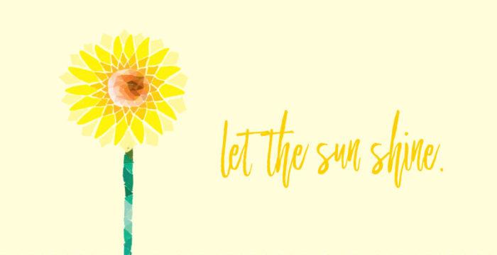 Geometric Sunflower Digital Wallpaper