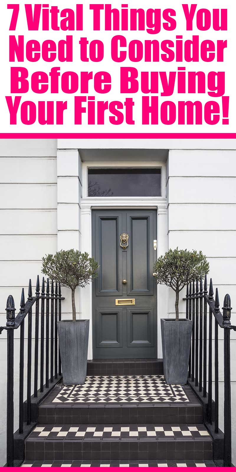 7 vital things to consider when buying your first home - Not to scare you off from buying your first home, but to help educate you so that you don't run into the same stressful situation that we found ourselves in.