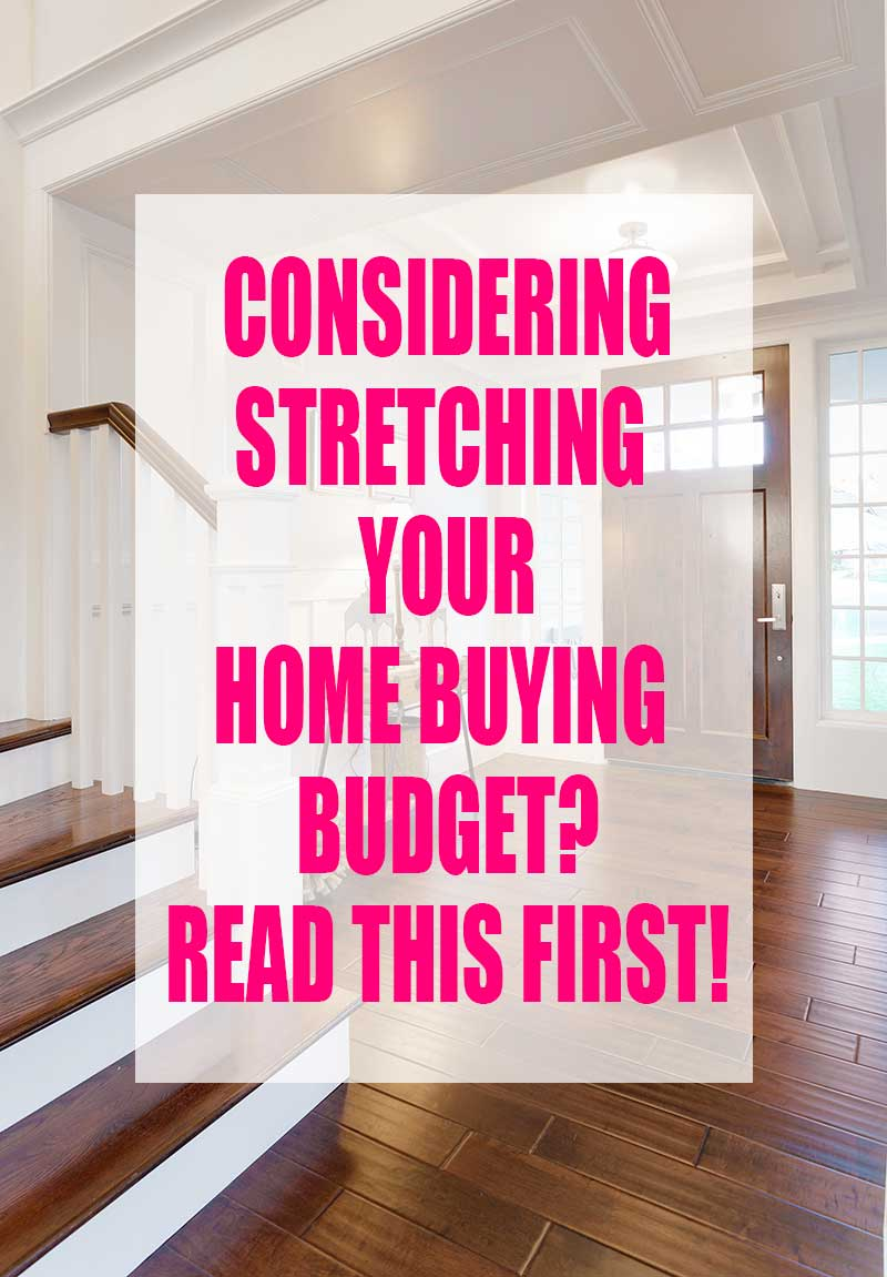Need vs. want. We were encouraged to stretch our budget, and it was a big mistake!  Read this and see how we downsized and are loving it!