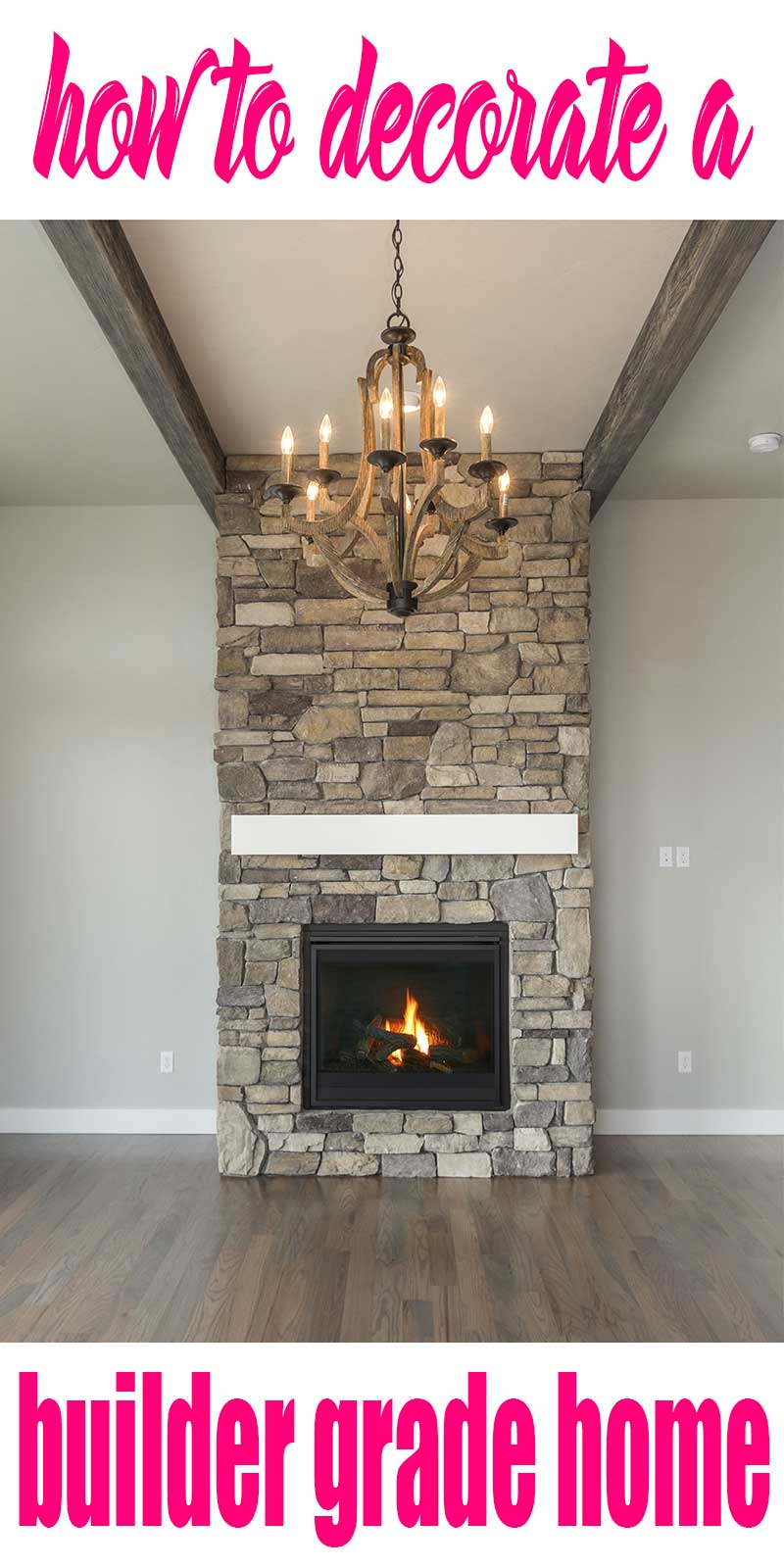 stone stacked fireplace