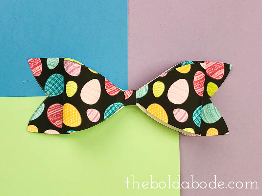 colorful egg paper bow
