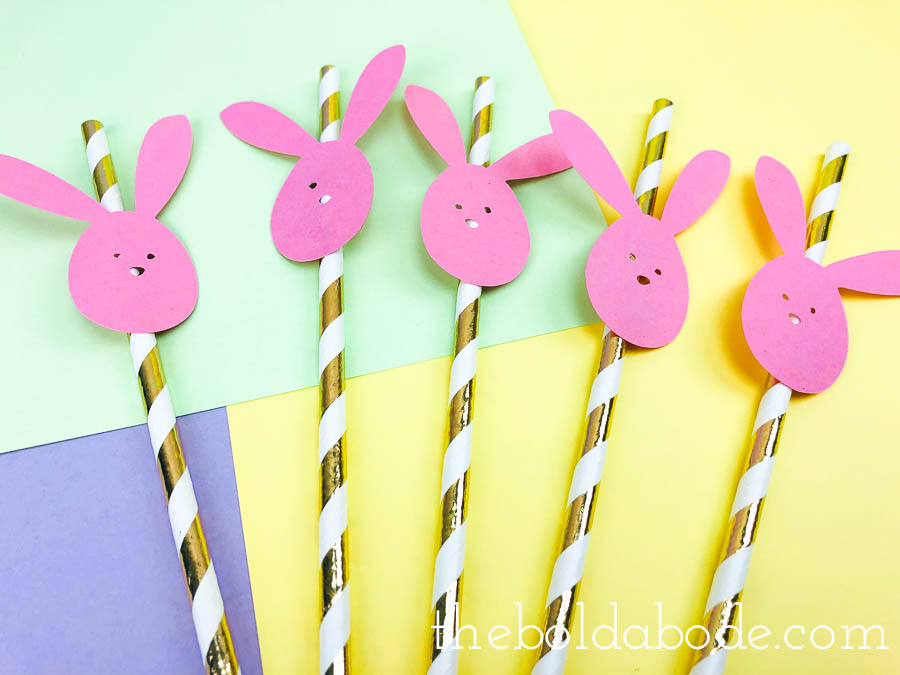 easter bunny straws