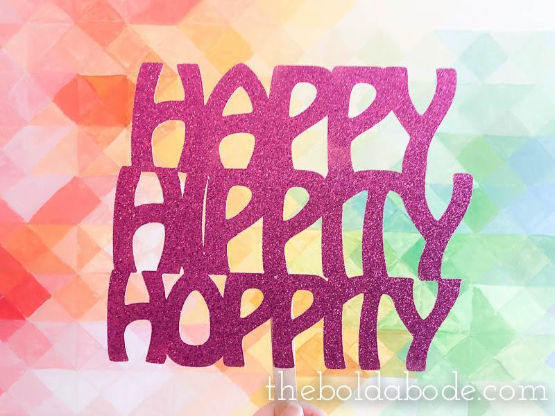 easter photo props sign Happy Hippity Hoppity