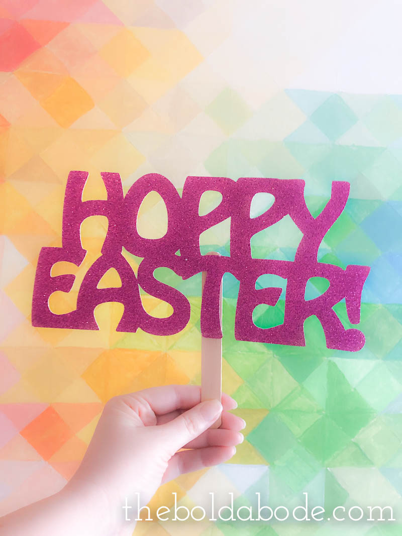 easter photo props sign Hoppy Easter!