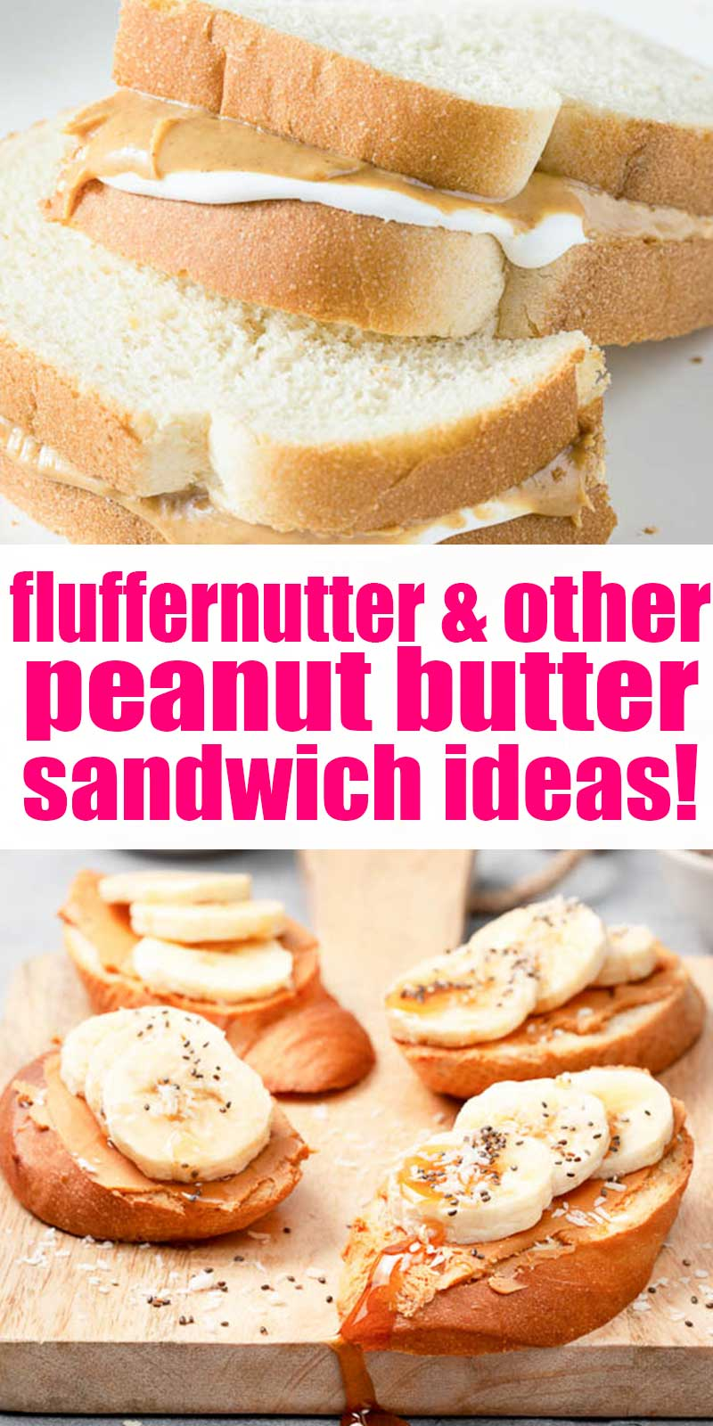 peanut butter sandwich with marshmallow creme