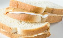 peanut butter and marshamllow creme sandwich aka a fluffernutter