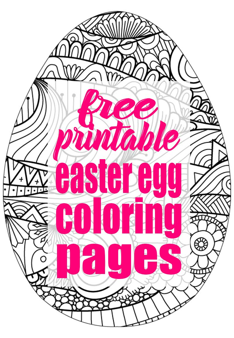 Easter Egg Coloring Pages - A Free Printable! | The Bold Abode