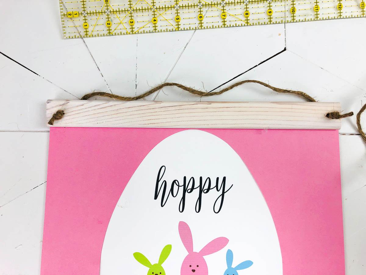 easter bunny wall hanging