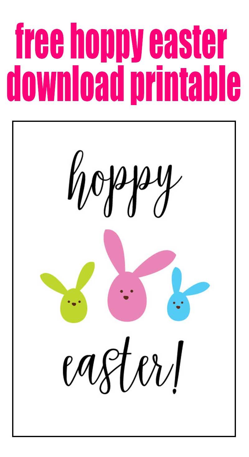 Hoppy Easter Bunny Printable