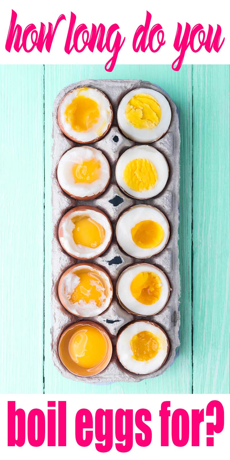 different levels of boiled eggs with their corresponding times