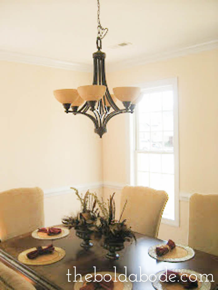 Beige dining room