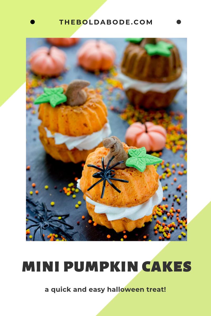 Mini pumpkin cakes for a sweet halloween treat!