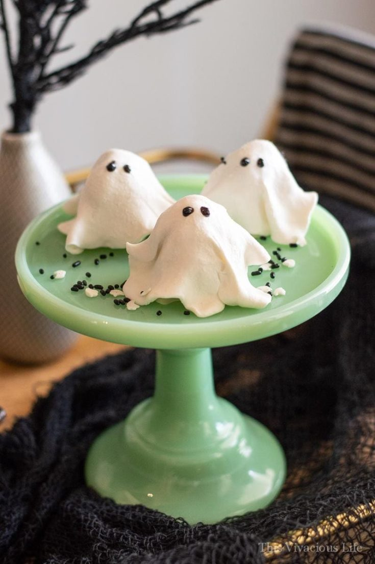 Ghost Cookies No Bake Gluten-Free for Halloween