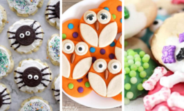 Spider cookies, owl cookies, monster cookies