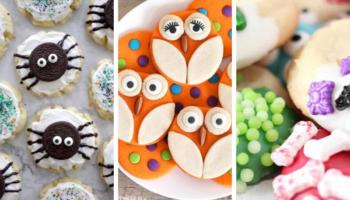 Spider cookies, owl cookies, monster cookies