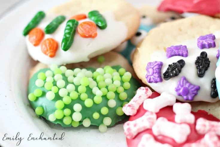 Halloween Sugar Cookies Dipped in Chocolate