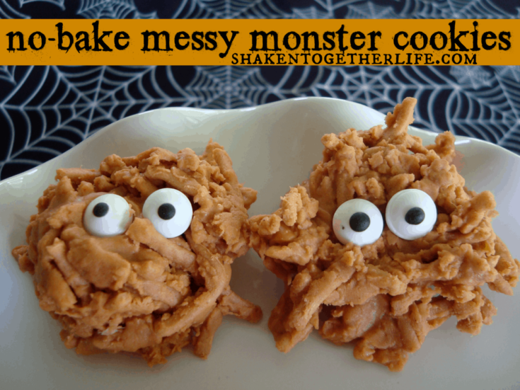 Messy Monster No-Bake Halloween Cookies