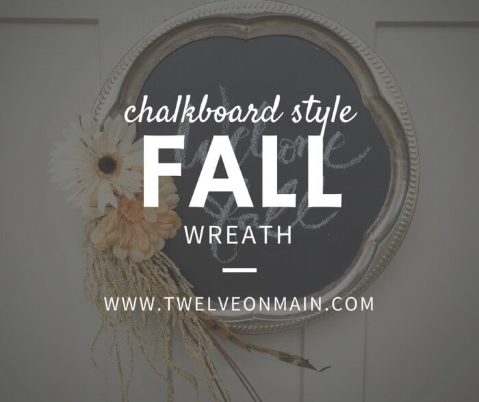 Make this Chalkboard Wreath With Thrift Store Items