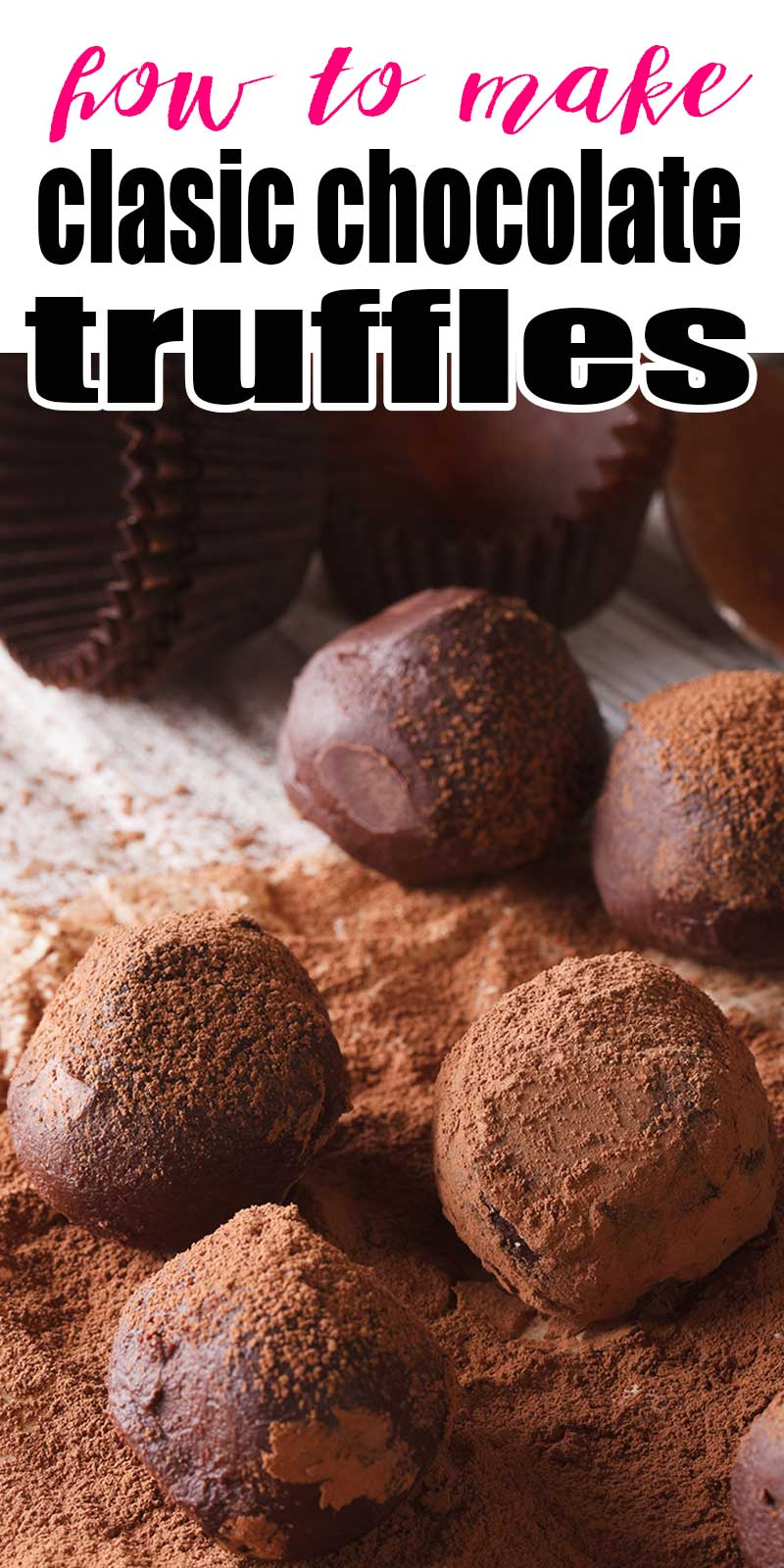 chocolate truffles dipped in cocoa powder