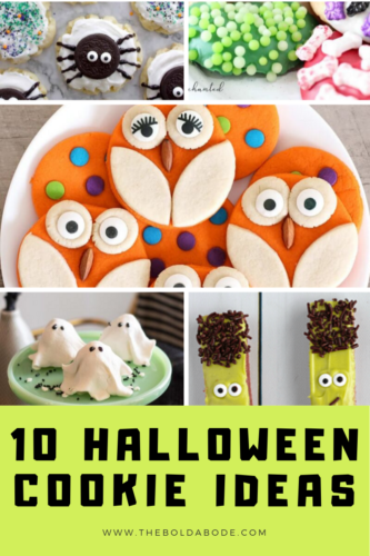 halloween cookies collage