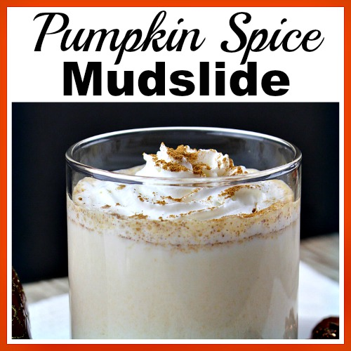 Pumpkin Spice Mudslide- Easy Homemade Alcoholic Drink Recipe