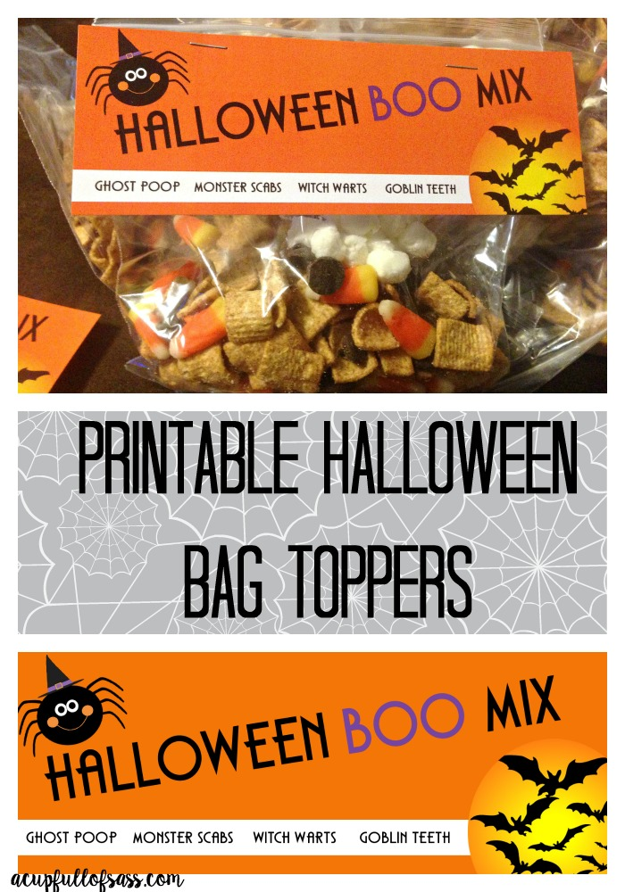 Halloween Printable Treat Bag Toppers - A Cup Full of Sass