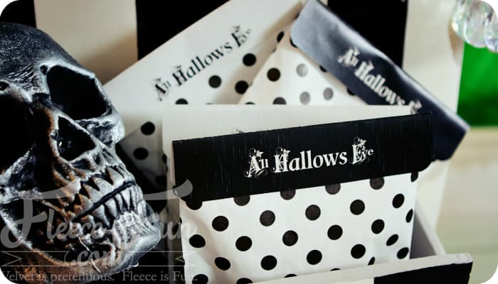 Free Printable Halloween Bag Topper {All Hallows Eve Collection}