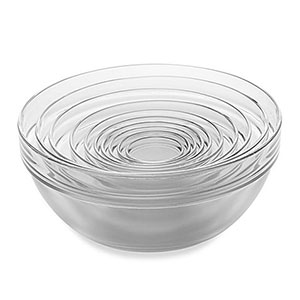 nested glass bowls