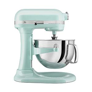 mint green kitchen aid mixer