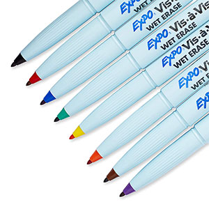 wet erase markers in colors