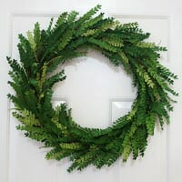 How I Made a Paper Boxwood Wreath